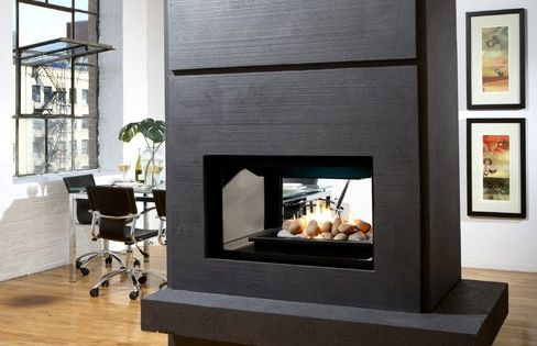 Double Sided Fireplace Home Sweet Home Pinterest Double Sided Fireplace Dividing Wall And