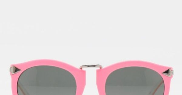 Harvest in Fluorescent Pink Sunglasses by Karen Walker