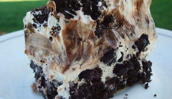 Oreo Layer Dessert - we call this dirt cake - and put