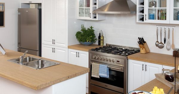 Bamboo benchtop - saw today at Bunnings Kitchen Ideas Pinterest ...