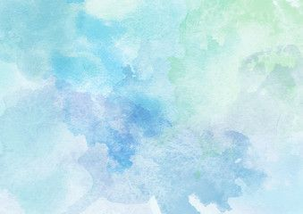 Light Blue Watercolor Hand Painted Flowers In 2020 Watercolor