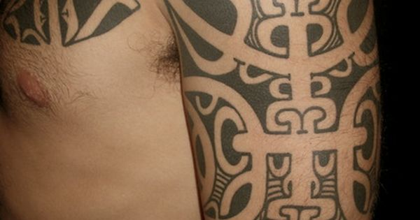Freehand marquesan sleeve by chris higgins higgins and co for Higgins ink tattoo