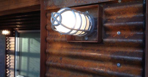 Tonnesen Remodel Exterior Industrial Light Fixtures Steel Siding Outdoor Patio Space