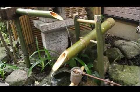 Make a kill bill style shishi odoshi deer scarer bamboo water fountain youtube abode - Shishi odoshi bamboo water feature ...