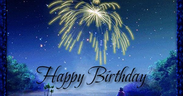 Happy Birthday 131 With Animated Fireworks Happy Birthday Fireworks Animated Birthday Greetings Birthday Fireworks