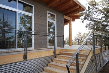 Braden Residence Modern Porch Other Metro By Modernfab Corrugated Metal Siding House With Porch Modern Porch