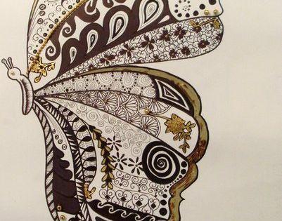 cool - zen tangle butterfly