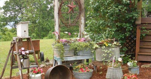 Décoration jardin en objets de récupération en 31 idées  Jardins ...