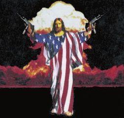 Jesus wearing american flag with guns and bombs   Jesus, Cool jesus, Jesus  memes