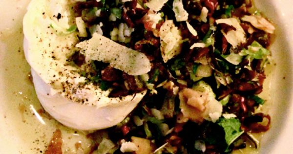 Paul Kahan's Shaved Brussel Sprout Salad with Burrata ...