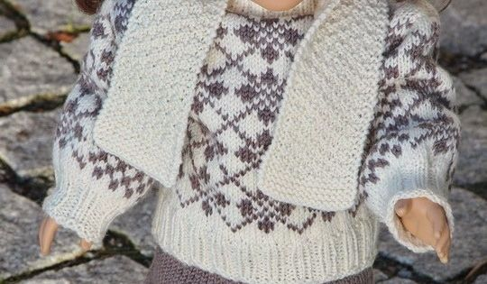 Vintage doll knitting pattern ... ... knit gorgeous sweater with old fashione...