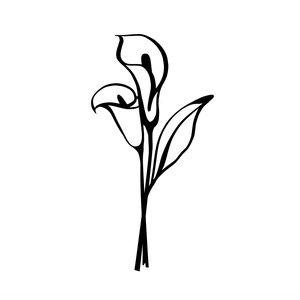 Silhouette Design Store Browse Designs Calla Lily Tattoos Lily Flower Tattoos Lily Tattoo