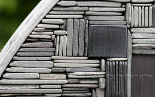 stacked stone mosaic