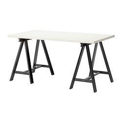 Linnmon Oddvald Table White Black Ikea Ikea Vika Ikea Ikea Writing Desk