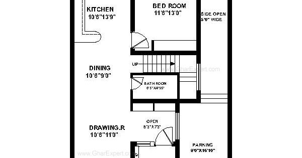 House plan for 30 feet by 45 feet plot plot size 150 for 600 sq yards house plan