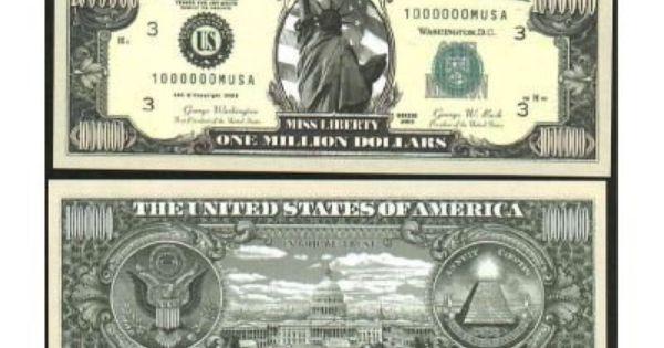 W 5-Prince Million Dollar Bills-NOVELTY Collectors FAKE Money Music item