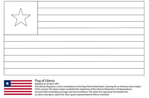 Flag Of Liberia Coloring Page Free Printable Coloring Pages Liberia Flag Coloring Pages Free Printable Coloring Pages