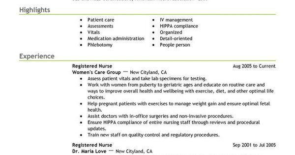 new registered resume sle registered