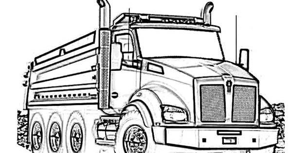 Truck Coloring Page Truck Coloring Pages Kenworth