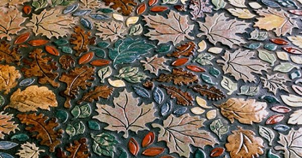 Leaf Mosaic Tile Floor Pattern Love Affair Pinterest