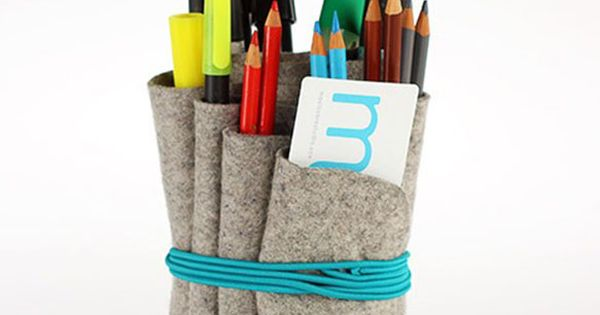 wool felt pencil holder