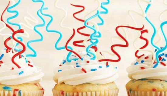 Sparkler Cupcakes 4thofjuly cupcakes recipe