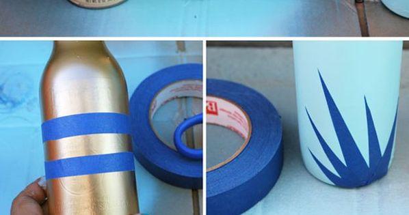Beer Bottle Bud Vases | Easy DIY Beer Bottle Craft Project by