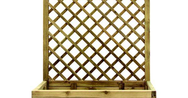 Jardiniere Treillis Pin 90 X 40 X H 150 Cm Treillis Treillis Bois Castorama