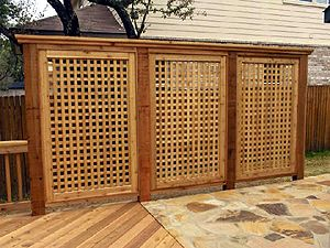 Redwood Lattice Outdoor Privacy