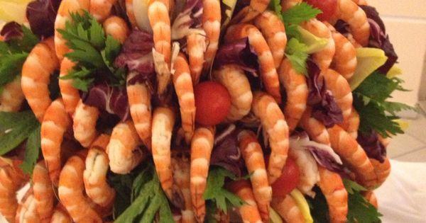 Shrimps Fountain Wedding Buffet Parties Food Displays