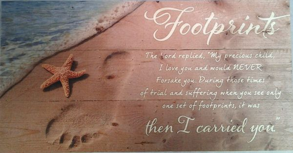 Beach Sayings Footprints In The Sand Sign Polynesian