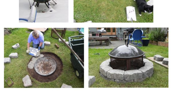 "Turn the rolling fire pit into a permanent backyard fixture! ""I have"
