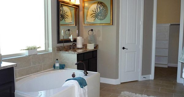 Luxurious Master Bath features Granite topped His/Hers ...