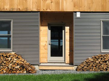 Corrugated Metal Siding Design Ideas Pictures Remodel And Decor Corrugated Metal Siding Metal Siding Wainscoting