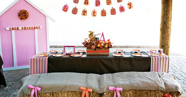 pumpkin patch birthday ideas | Fall Birthday Party Idea.