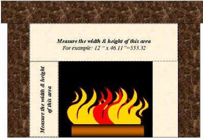 Calculate Fireplace Square Footage Square Feet Decorative Ceramic Tile Custom Ceramic Tiles