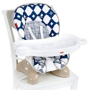 Fisher Price Space Saver High Chair Color Navy Baby High