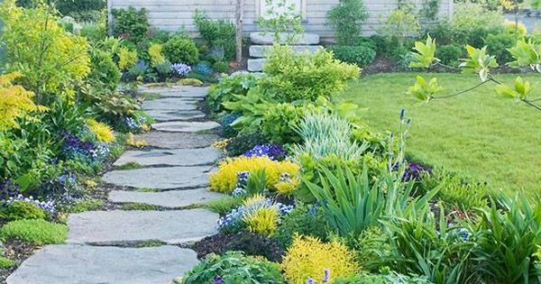 Sunny landscape ideas gardens pink peonies and plants for Sunny landscape designs