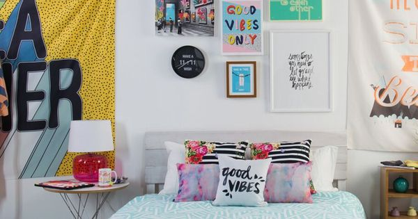 Big personality but small space explore bright colorful for Small room essentials