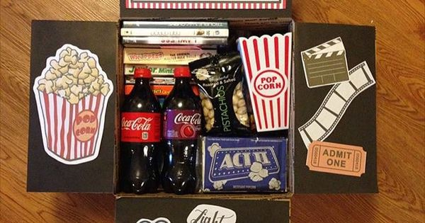 Movie Night Care Package | Gifts & Packaging | Pinterest ...