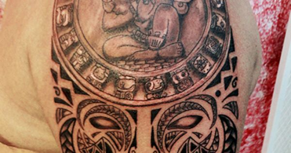 Calendario maya fusion polinesio fusion polynesian tattoo for Turkish mafia tattoos