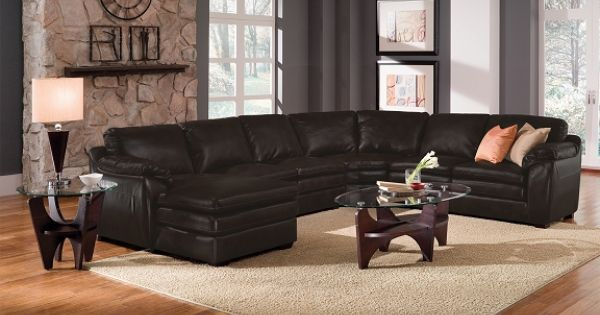 American Signature Furniture Silverton Leather Collection 2 Pc Sectional Beautiful