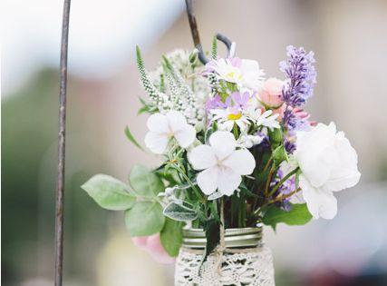 Super Cute flower jar. Makes a great lawn decoration!