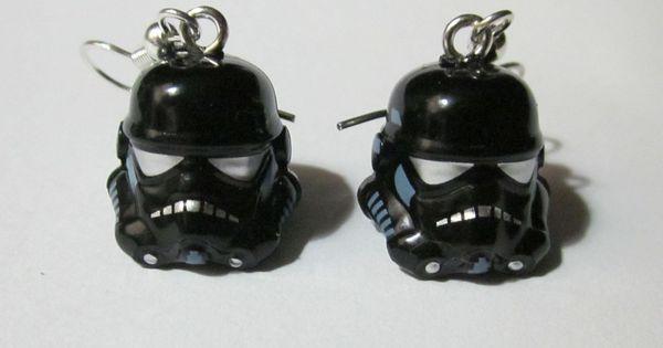 LEGO Star Wars Shadow Trooper Helmet Earrings by OaktopiaDesign- bday gift?