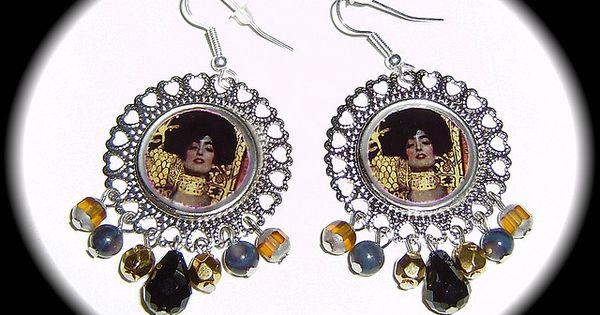 Pendientes Judith de Klimt   Klimt and Jewel