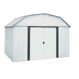 Arrow Galvanized Steel Storage Shed Common 10 Ft X 8 Ft Interior Di Metal Buildings Steel Storage Sheds Built In Storage