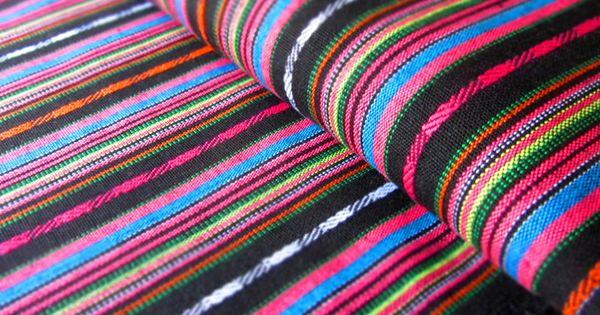 Mexikanischer ethno stoff black ikat muster von miss - Ikat muster ethno design ...