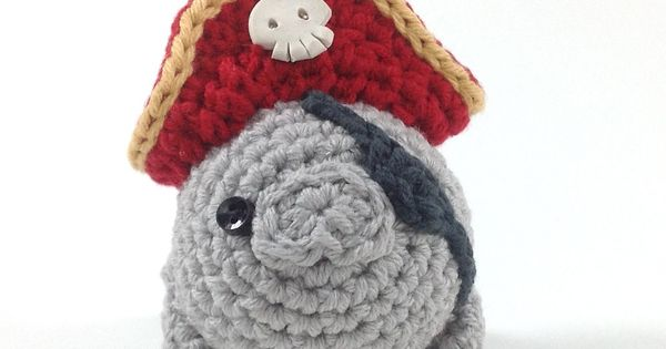 Pirate Manatee Handmade Amigurumi Toy by NeedleNoodles on children toy kid toy
