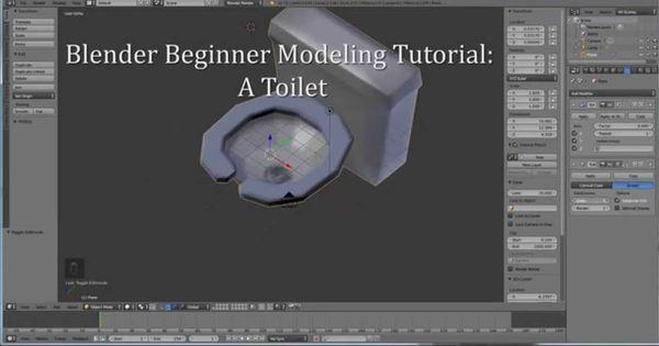 Blender Character Modeling Tutorial Beginner : Blender b beginner modeling tutorial a toilet