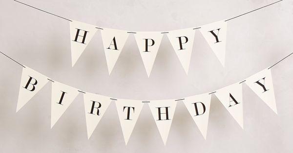Happy Birthday Bunting anthropologie tuckandbonte